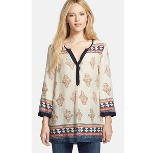 Lucky Brand Long Sleeve Tinsley Tunic Blouse